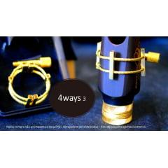 abraçadeira para boquilha saxofone  4ways (o parafuso prende por cima)
